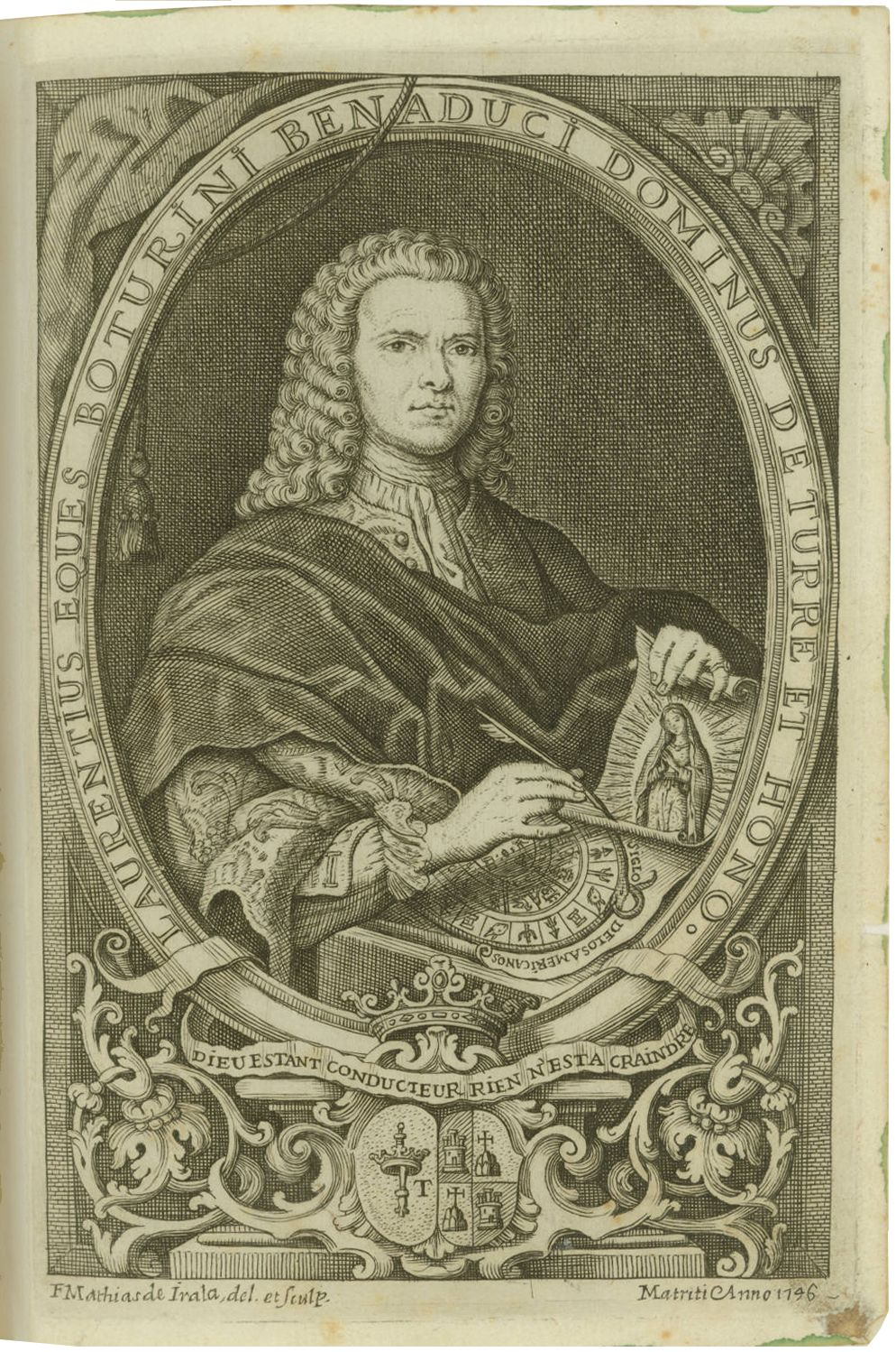 FIGURE 5. Engraving of Lorenzo Boturini Benaducci, published in his 1746 _Idea de una nueva historia general de la Am�rica Septentrionale_. Image courtesy of the John Carter Brown Library, Providence, RI.