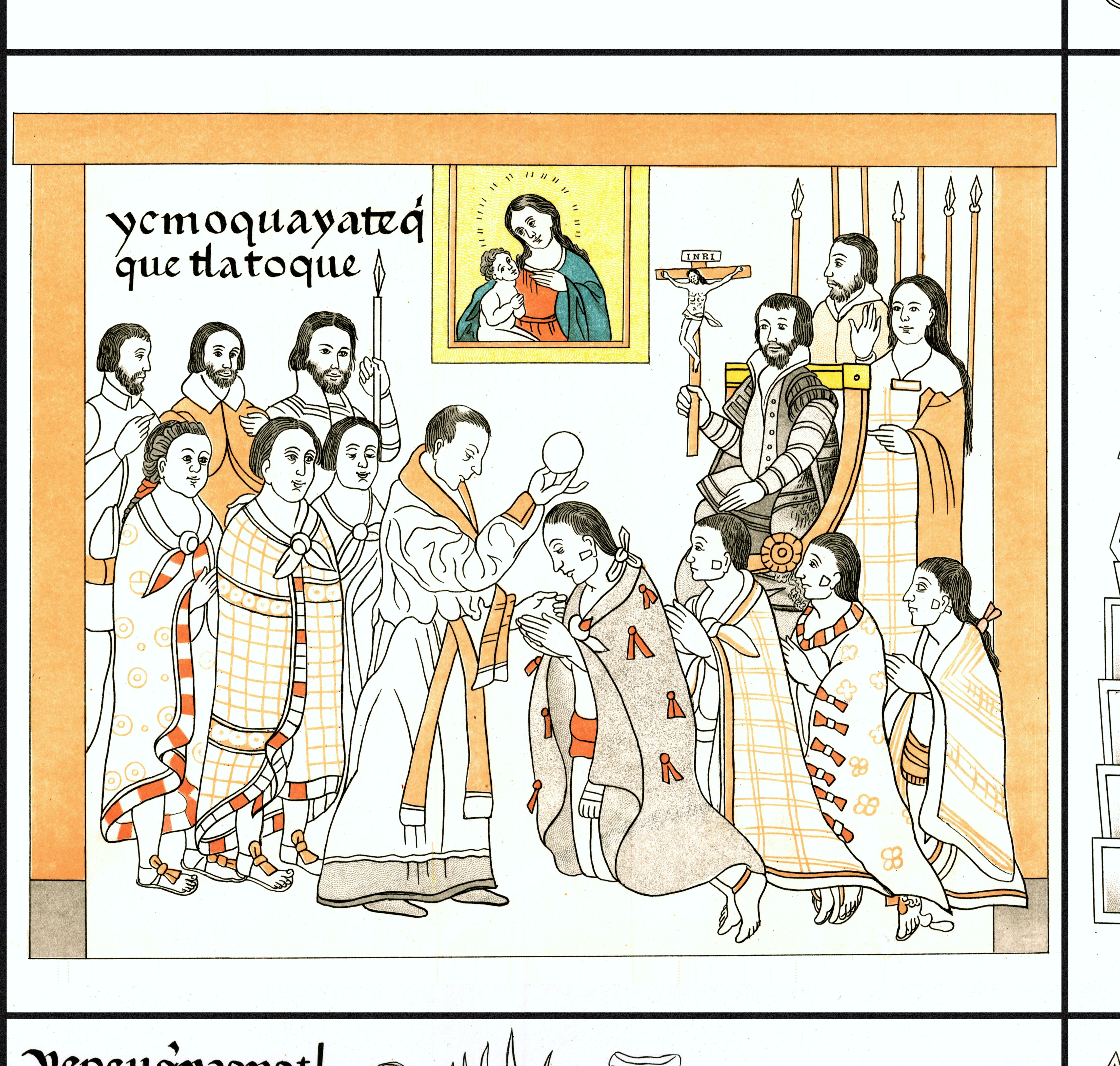 FIGURE 18. Cell 8: The conversion of the Tlaxcalans to Christianity.