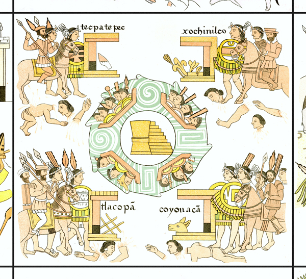 FIGURE 25. Cell 42: Tenochtitlan at the center of the Lienzo's grid.