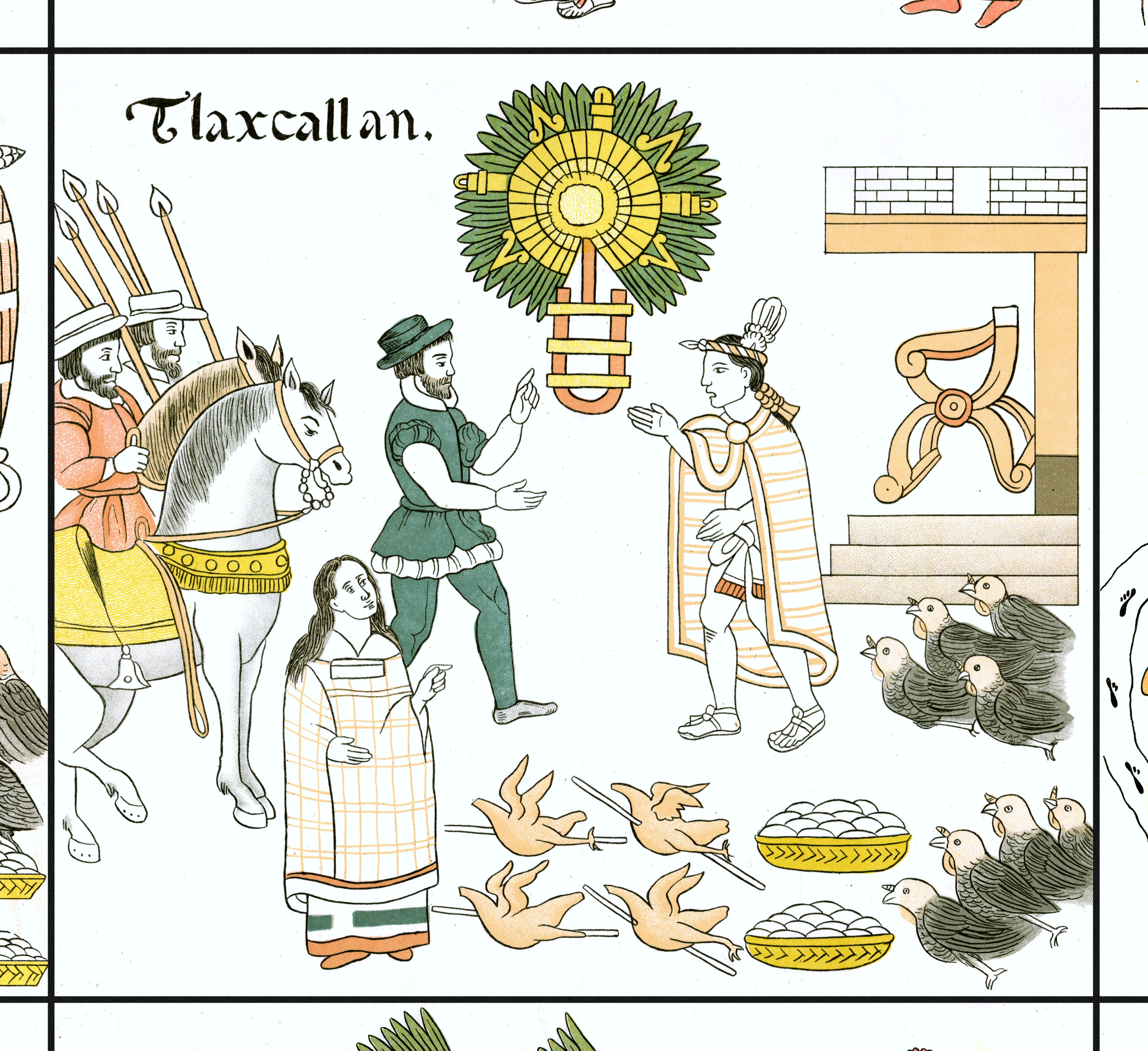 FIGURE 27. Cell 29: Tlaxcala and the First Sunrise (detail).