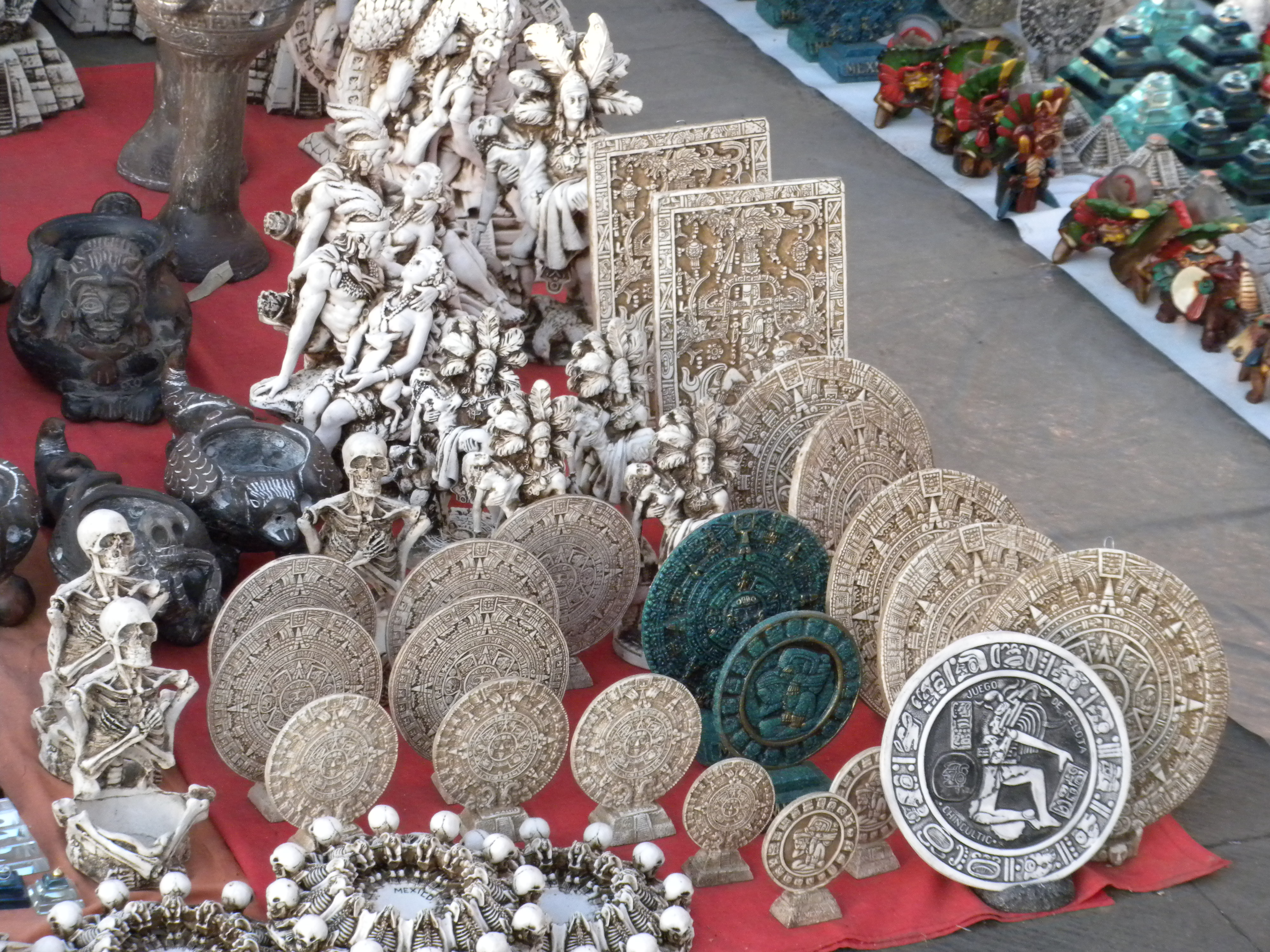 FIGURE 2. Calendar Stone souvenirs for sale in Mexico City, October 2010. Photo courtesy of Barbara Mundy and Sara Ryu.
