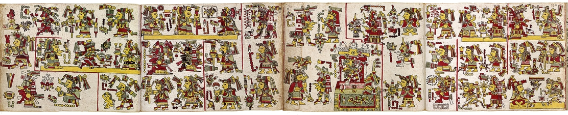 FIGURE 1. Pages 32 to 35 of the Codex Nuttall.