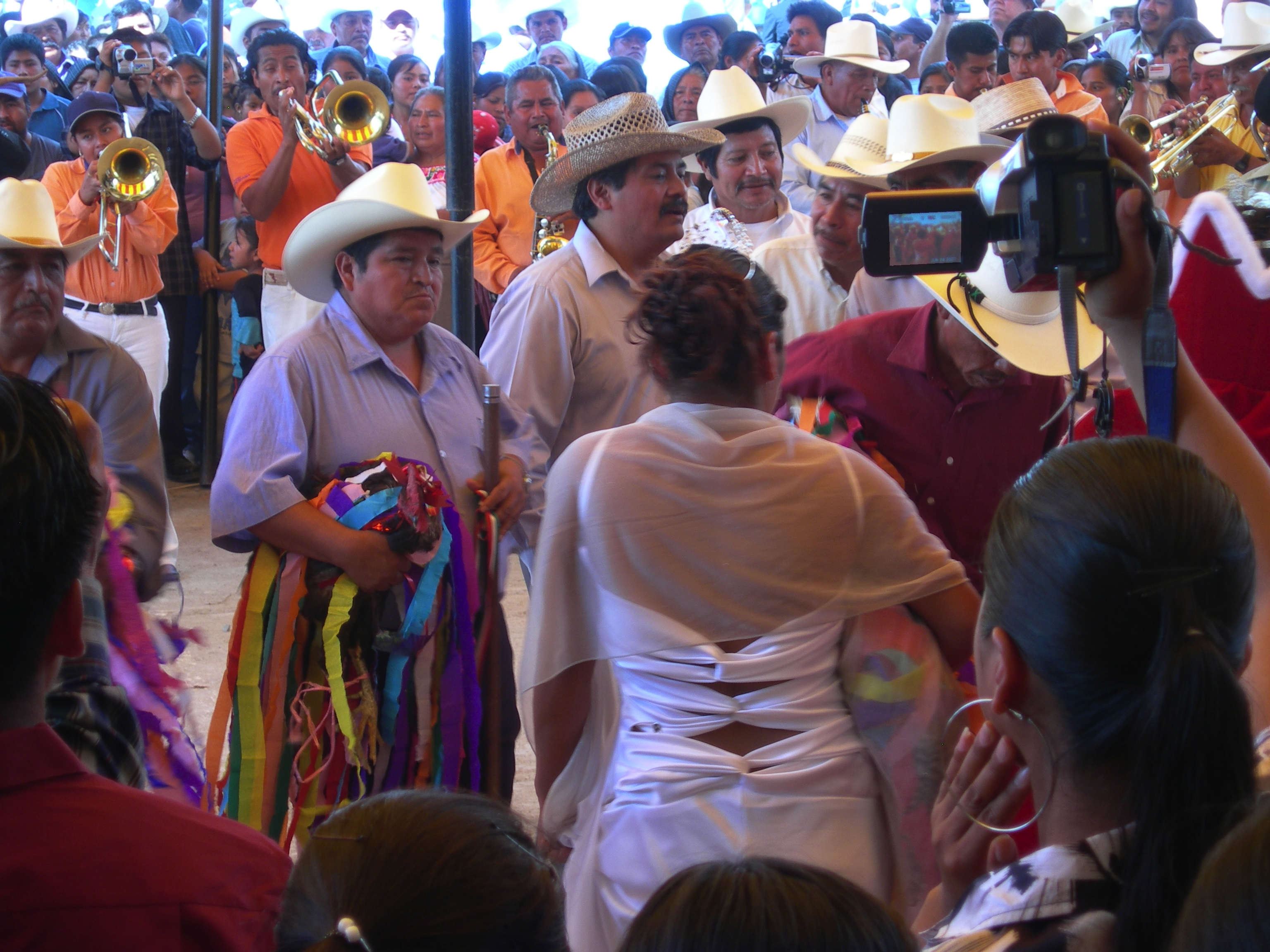 FIGURE 2. Celebrations honoring Saint John the Baptist in San Juan Mixtepec, the Mixteca Baja. May 2007. Photo by Byron Hamann.