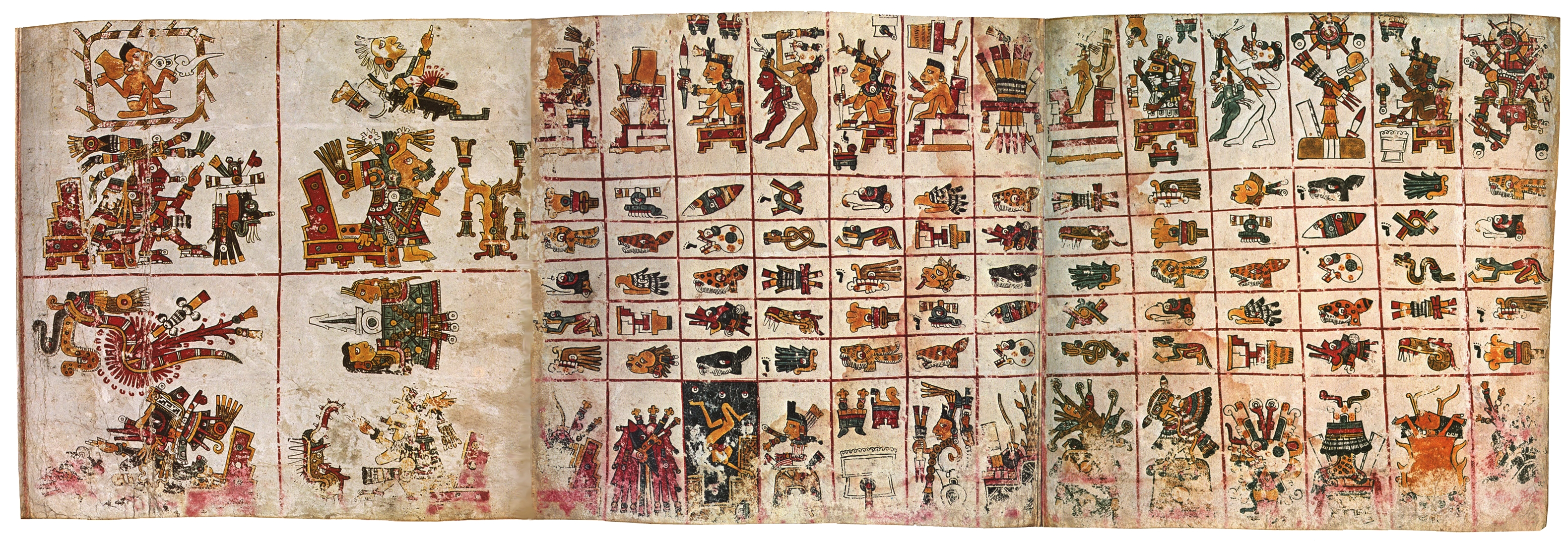 FIGURE 5. Pages 4-6 of the Codex Borgia.