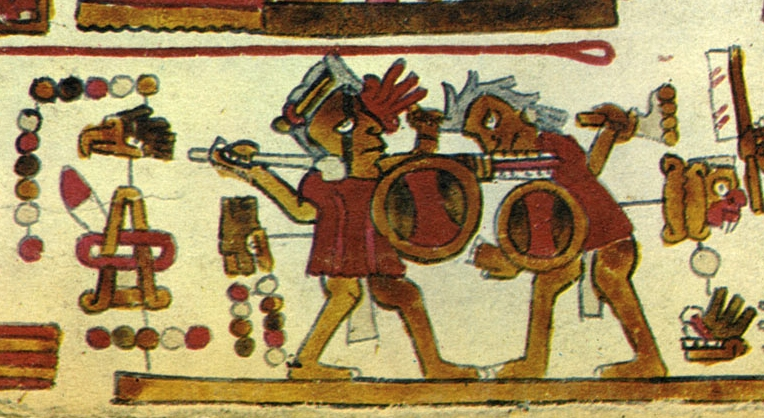 FIGURE 6. Lord 9 Lizard in battle, from page 13 of the Codex Selden.
