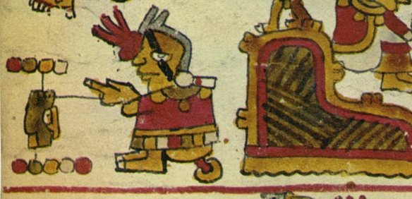 FIGURE 10. Lord 9 Lizard's birth, from page 11 of the Codex Selden.