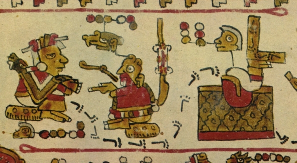 FIGURE 18. Loop ended guideline bands, from page 6 of the Codex Selden.