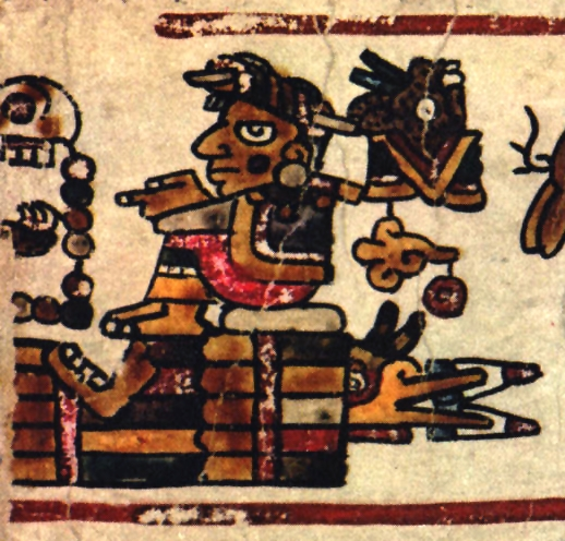 FIGURE 10. Lady 1 Flower, ruler of Yanhuitlan, from page 19 of the Codex Bodley.
